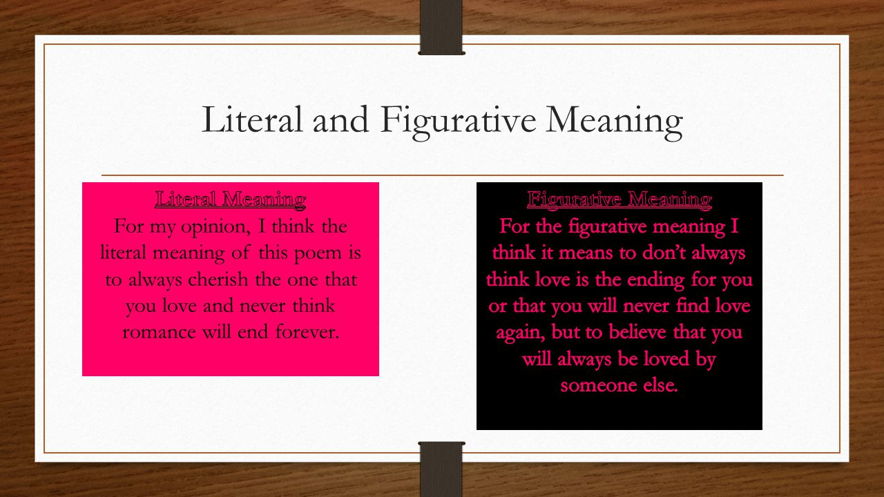 Literal and Figurative Meaning