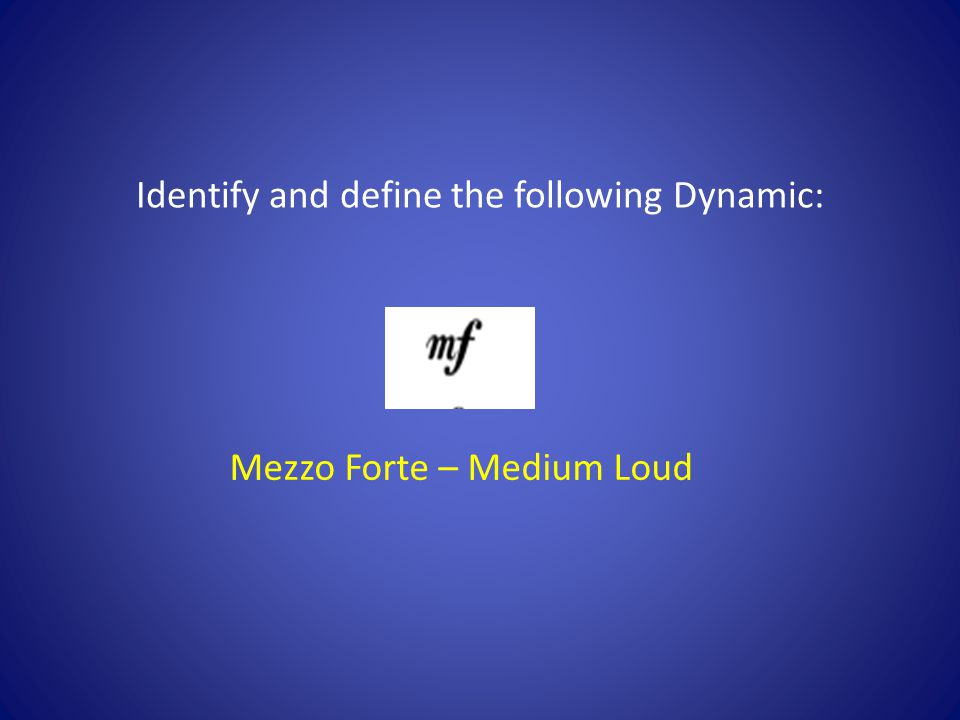 Mezzo Forte – Medium Loud