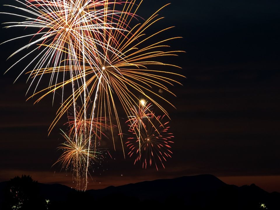 On Friday I went to the colourful fireworks. It went boom.