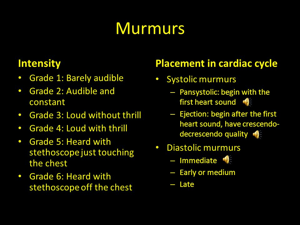 Question #1 Which of the following accurately describes the Still murmur.