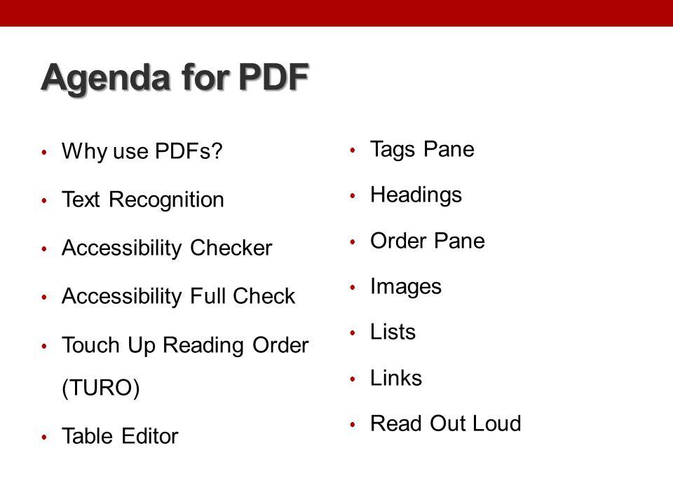 Why Use PDF.