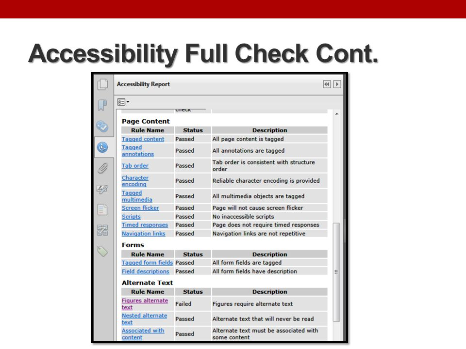 Accessibility Options A tool panel where most accessibility options are located.