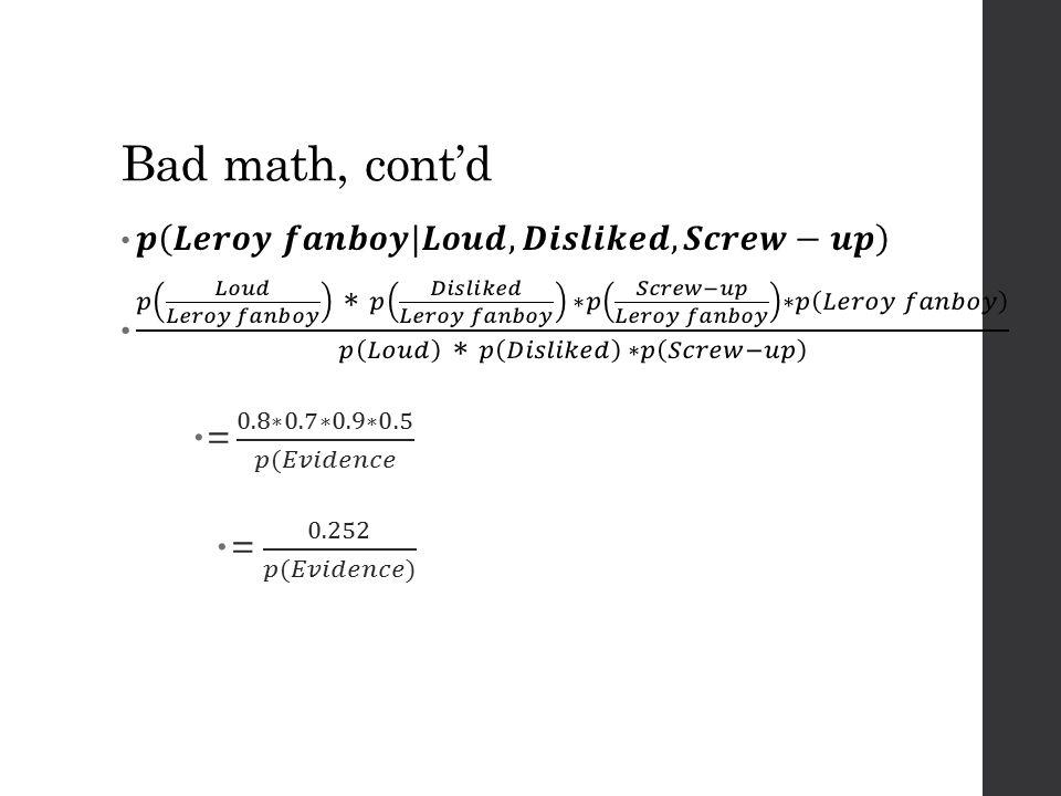 Bad math, cont'd