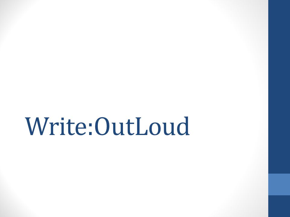 Write:OutLoud