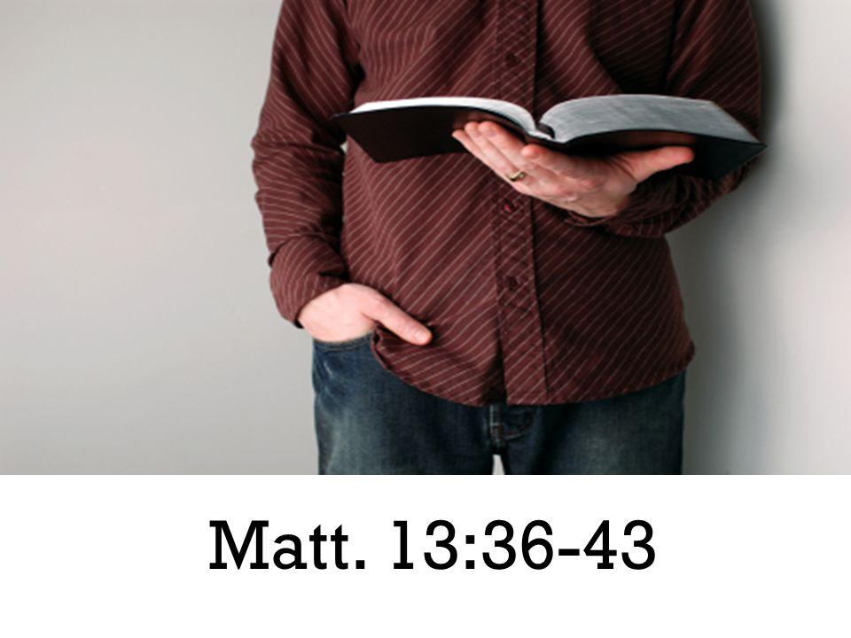 Matt. 13:36-43