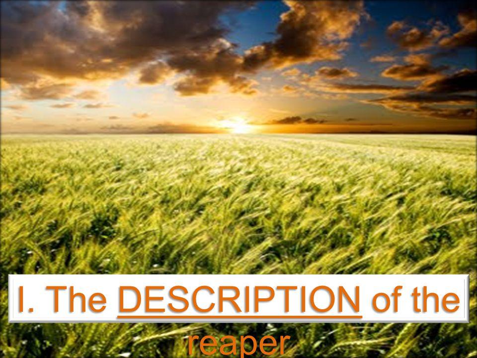 I. The DESCRIPTION of the reaper