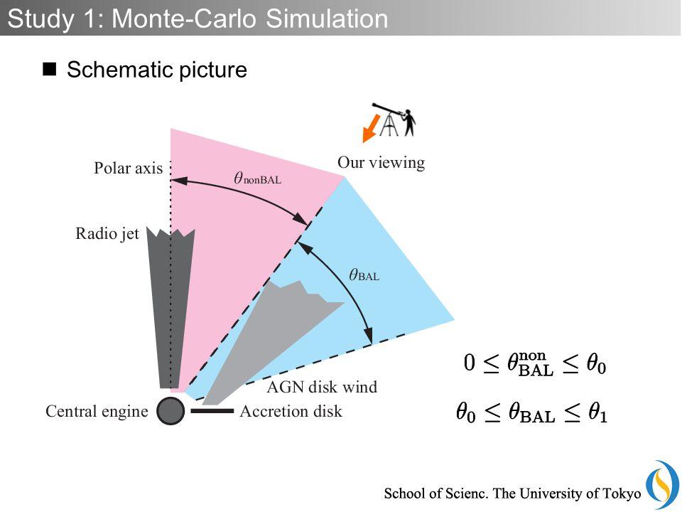 Schematic picture Study 1: Monte-Carlo Simulation