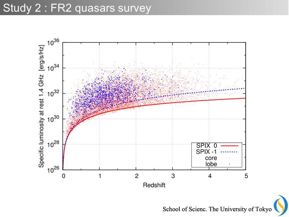 Study 2 : FR2 quasars survey