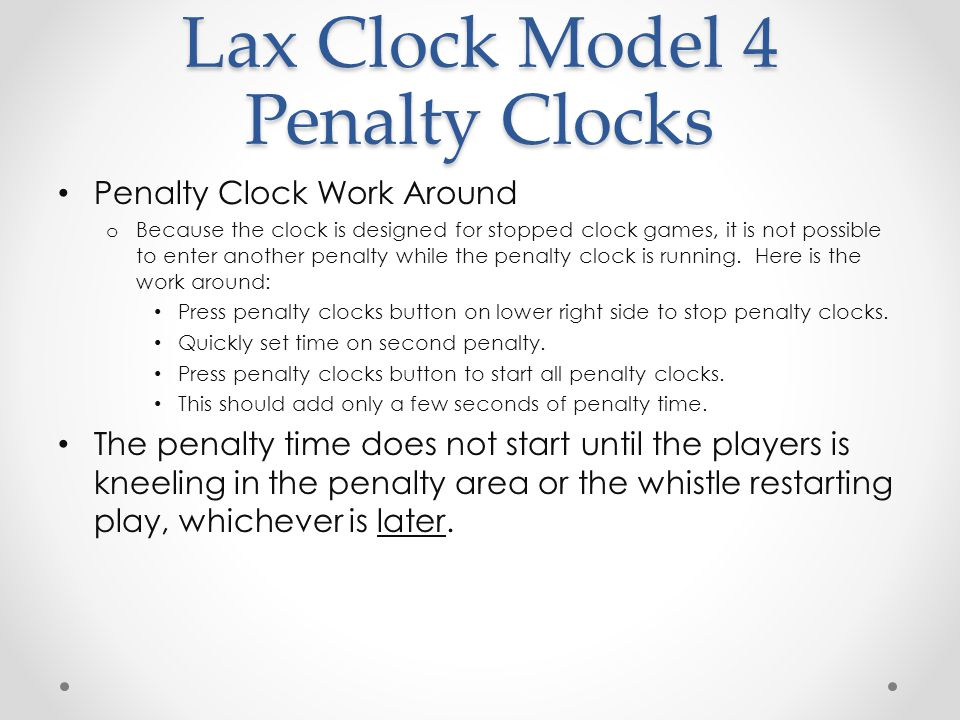 Lax Clock Model 4 Horn Operation Controlling Horn o Controlling Horn Volume End of period horn is VERY LOUD, so avoid pointing it toward anyone.