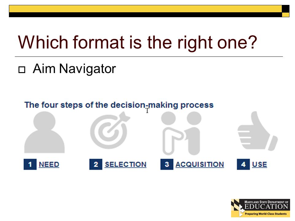 Which format is the right one  Aim Navigator T