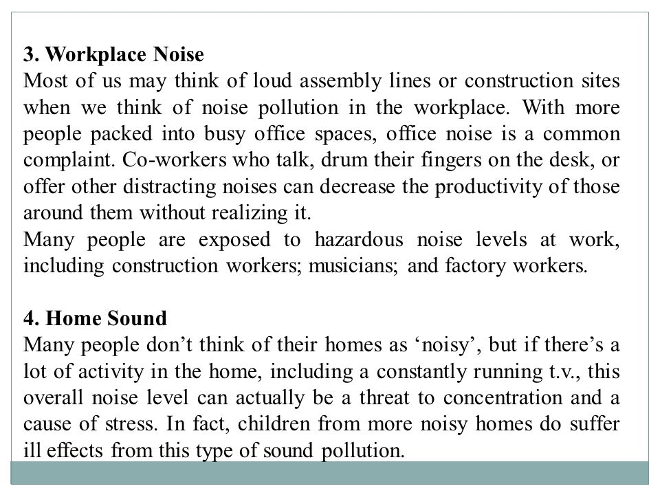 Noise Health Effects The most notable physical effect of noise exposure is loss of hearing.