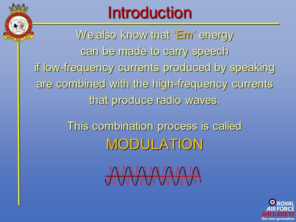 The Receiver Let's take two frequency waves f1f1f1f1 f2f2f2f2 & If we join up the peaks and troughs The resultant wave is the Difference Frequency f 2 - f 1 If f 1 = 248 kHz and f 2 = 252 kHz then this new wave gives a beat of 4 kHz