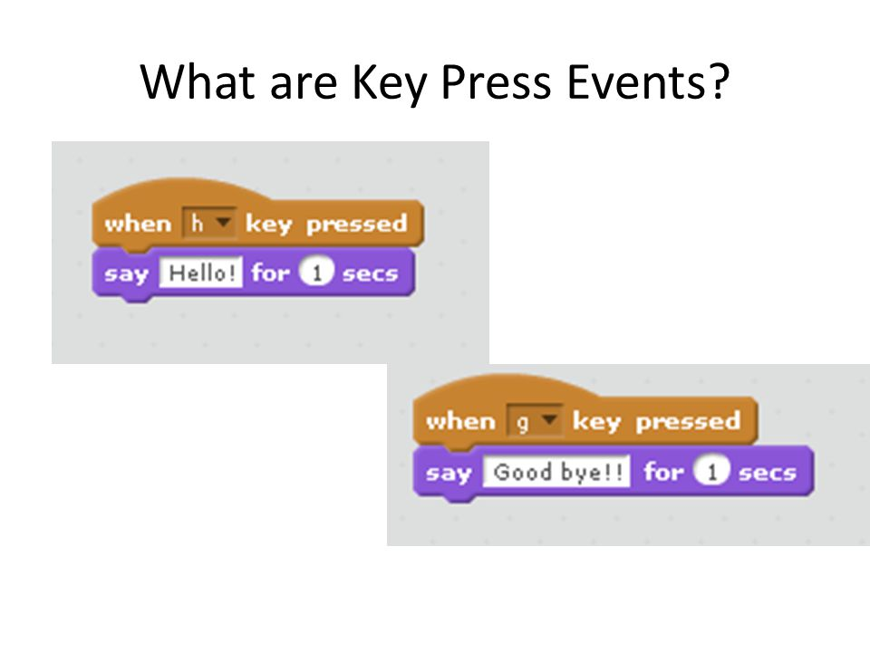 What are Key Press Events?
