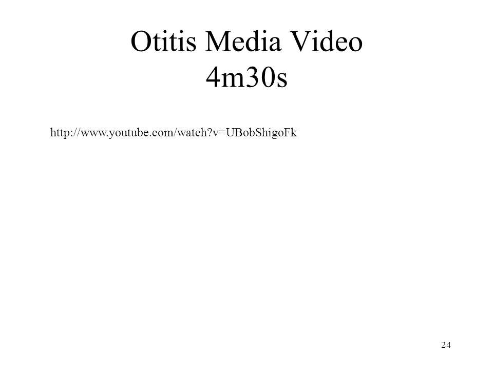 Otitis Media Video 4m30s 24 http://www.youtube.com/watch?v=UBobShigoFk