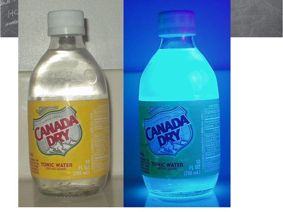 Fluorescence Phosphor Glow Paper Tonic Water Violet Laser