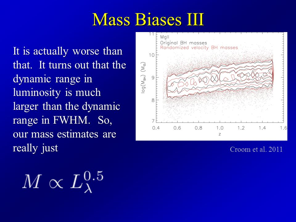Mass Biases III It is actually worse than that.