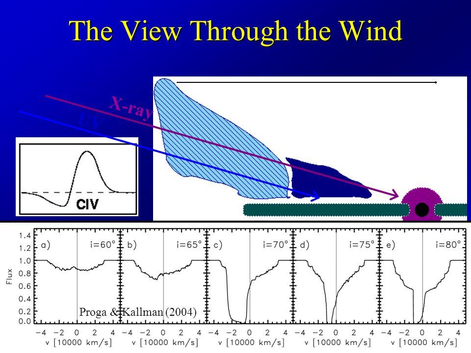 The View Through the Wind UV X-ray shielding gas BAL wind Broad Absorption Line (BAL) Quasars Proga & Kallman (2004)