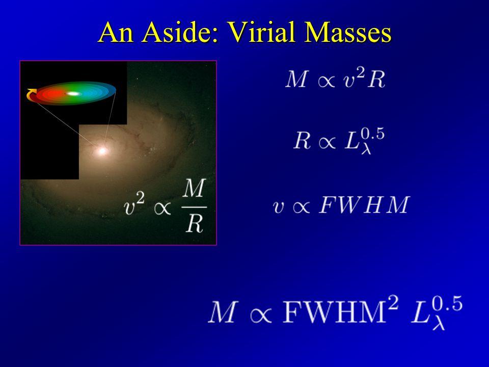 An Aside: Virial Masses