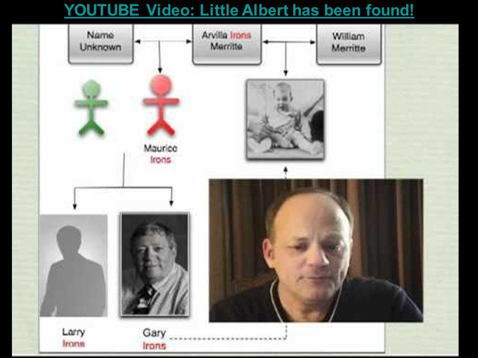 YOUTUBE Video: Little Albert has been found!