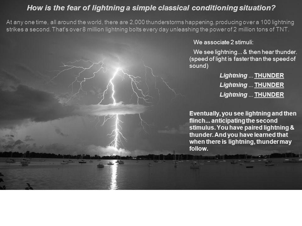 We associate 2 stimuli: We see lightning...& then hear thunder.