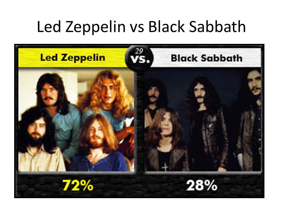 Led Zeppelin vs Black Sabbath