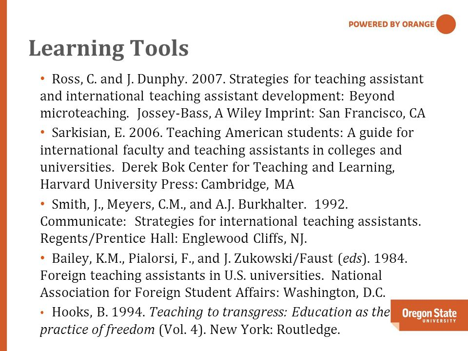 Learning Tools Ross, C. and J. Dunphy. 2007.