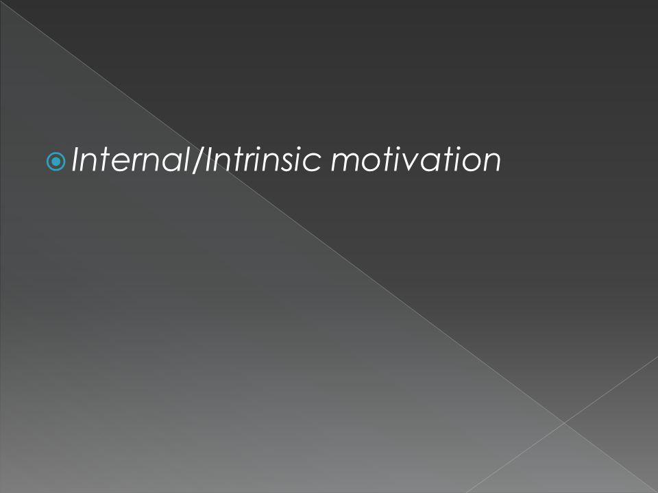  Internal/Intrinsic motivation