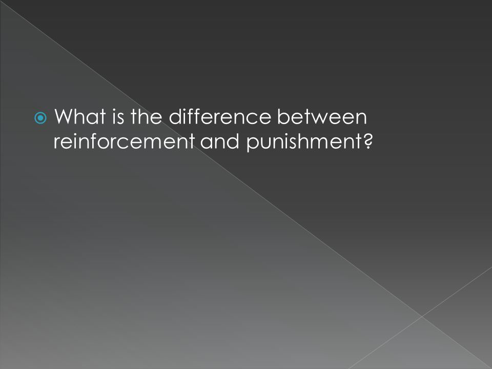  What is the difference between reinforcement and punishment
