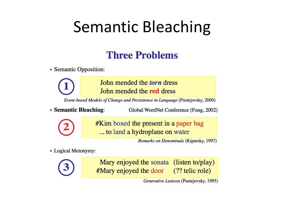 Semantic Bleaching