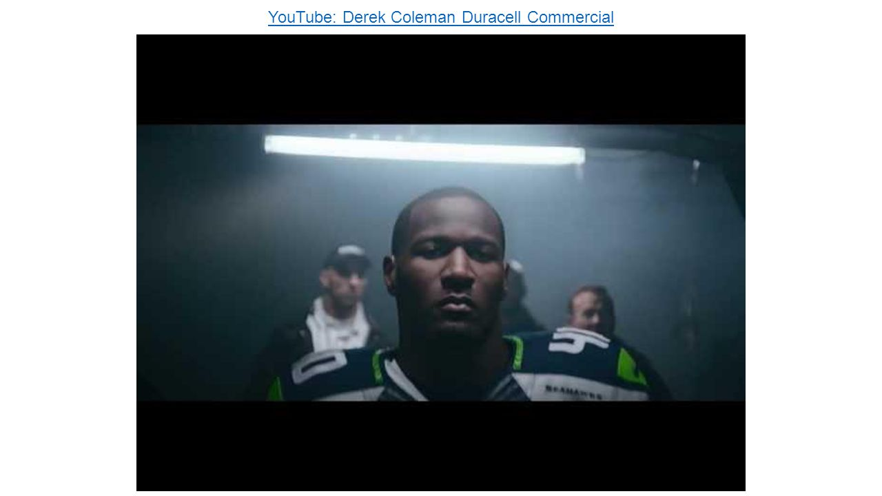 YouTube: Derek Coleman Duracell Commercial