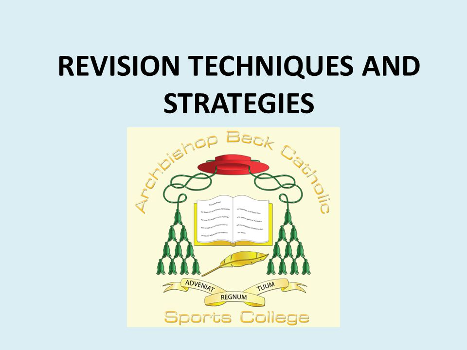 REVISION TECHNIQUES AND STRATEGIES
