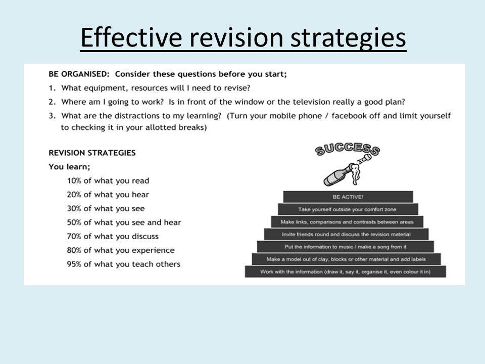 The rules of revision 1.Make your own revision notes.