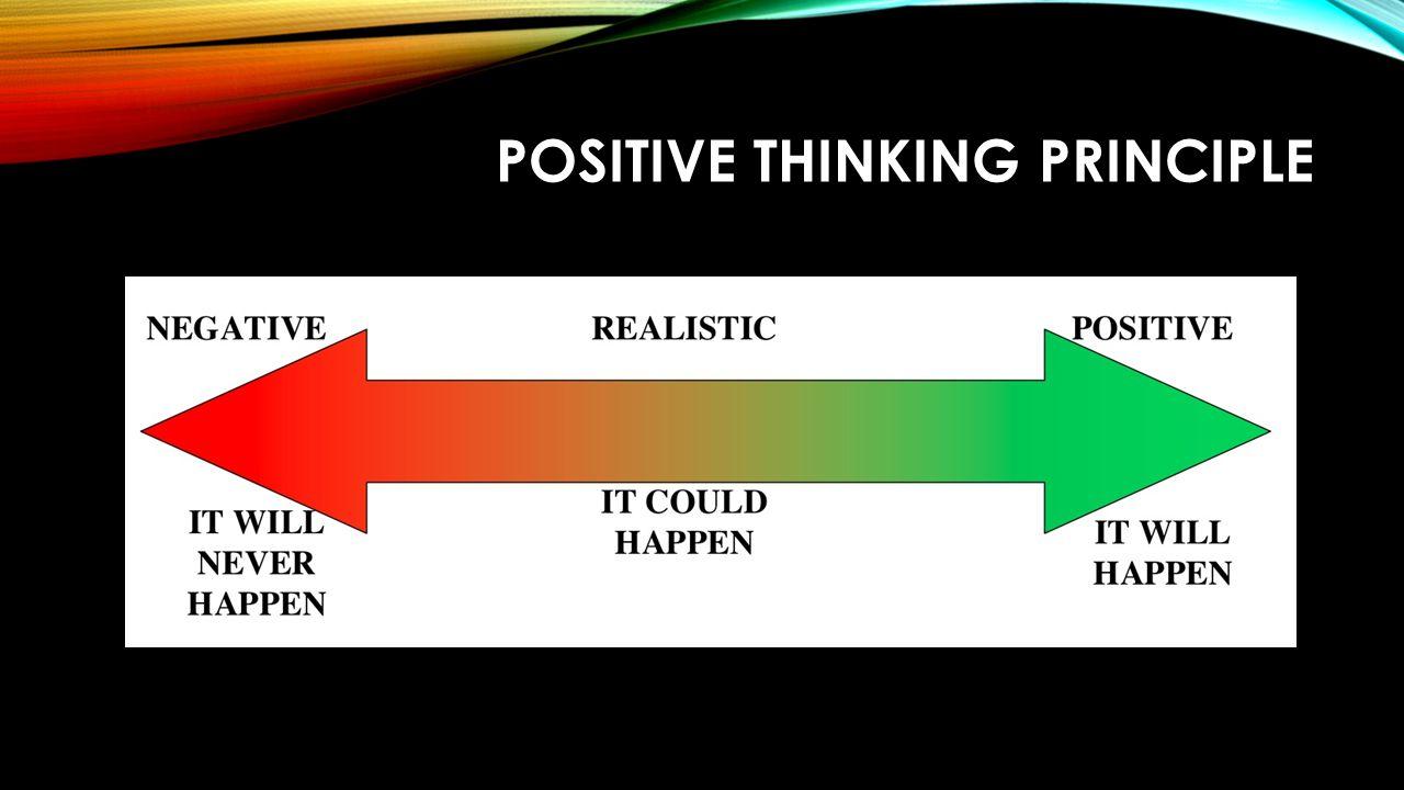 POSITIVE THINKING PRINCIPLE