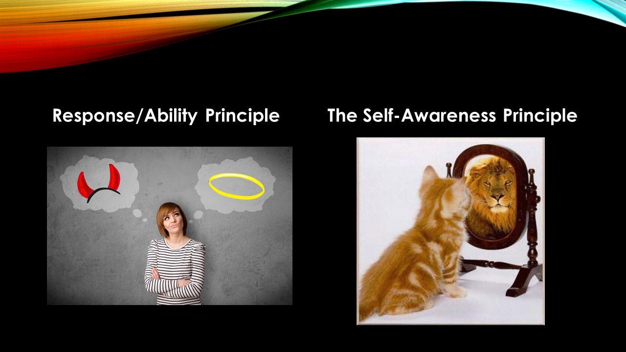 Response/Ability PrincipleThe Self-Awareness Principle