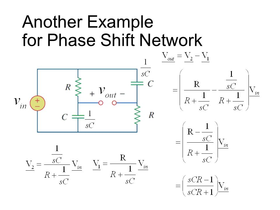 Example 11.2 Phase shift network: Waveform distortion