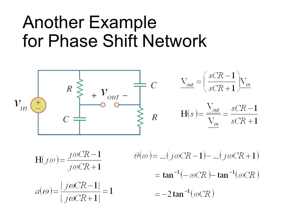 Another Example for Phase Shift Network