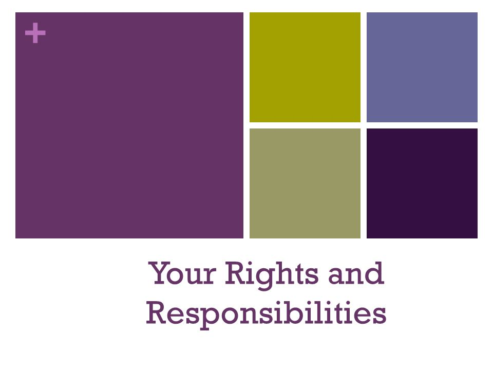 + Your Rights and Responsibilities