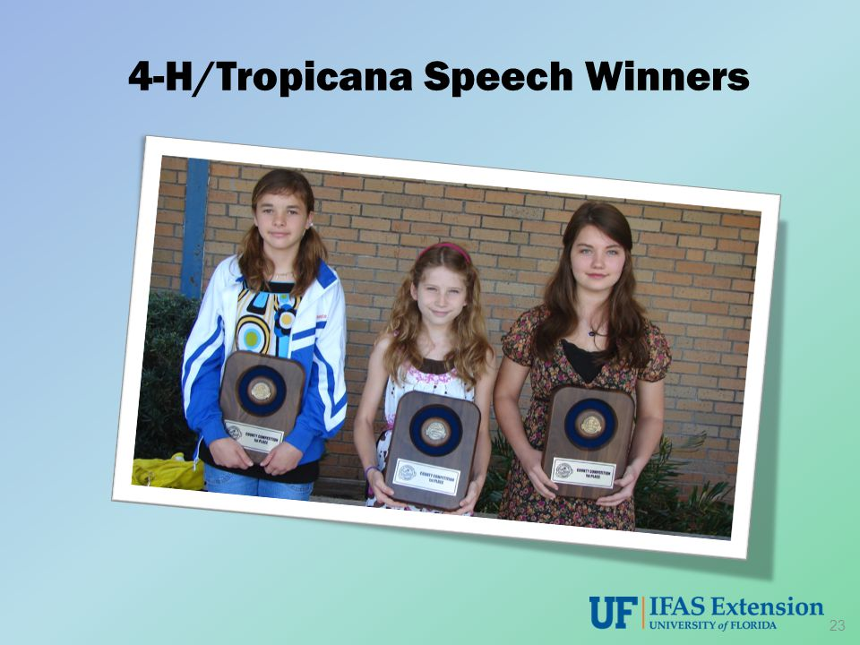 4-H/Tropicana Speech Winners 23