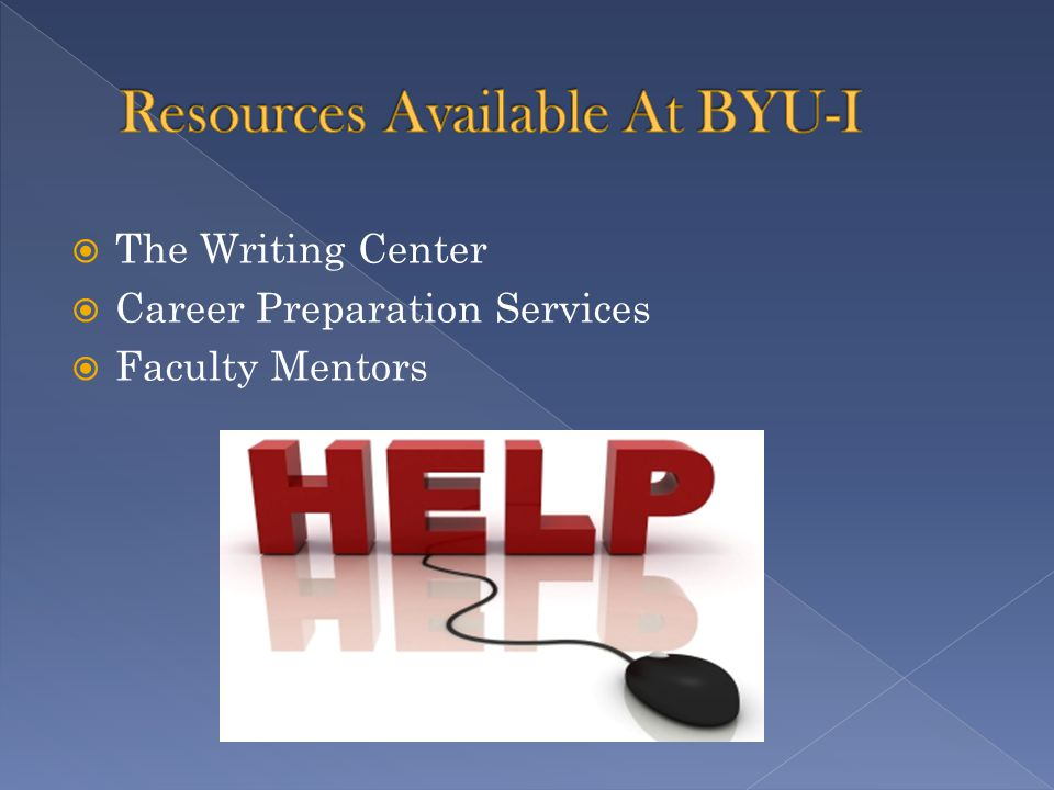  The Writing Center  Career Preparation Services  Faculty Mentors