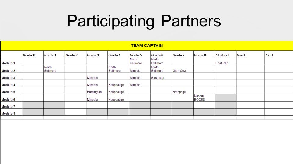 Participating Partners