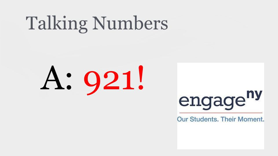 Talking Numbers A: 921!