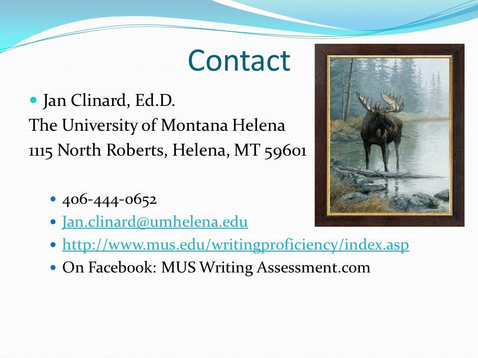 Contact Jan Clinard, Ed.D.