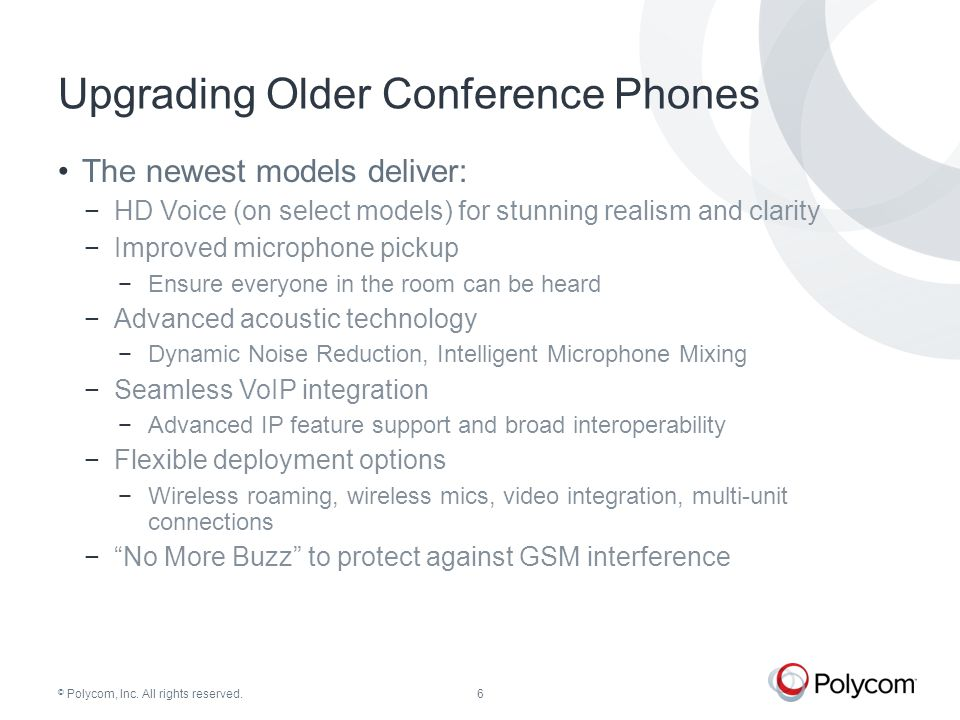 © Polycom, Inc. All rights reserved. Polycom Conference Phones Family Overview