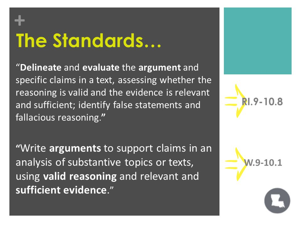 + Delineate and evaluate the argument and specific claims in a text, assessing whether the reasoning is valid and the evidence is relevant and sufficient; identify false statements and fallacious reasoning.