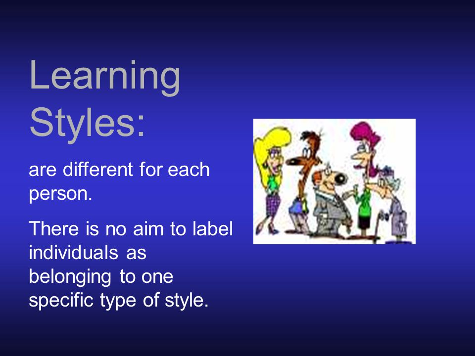 TEACHING STRATEGIES TO HELP THE VISUAL LEARNER TEACHING STRATEGIES TO HELP THE AUDITORY LEARNER Tactile Learner: TEACHING STRATEGIES TO HELP THE TACTILE LEARNER STRATEGIES TO HELP THE AUDITORY LEARNER I  Information should be presented through lectures, class discussions, small group activities, films and tapes.