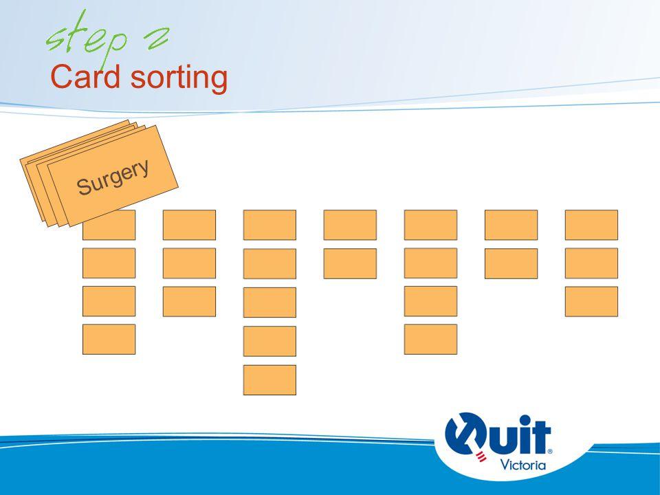 surgery Card sorting surgery Surgery