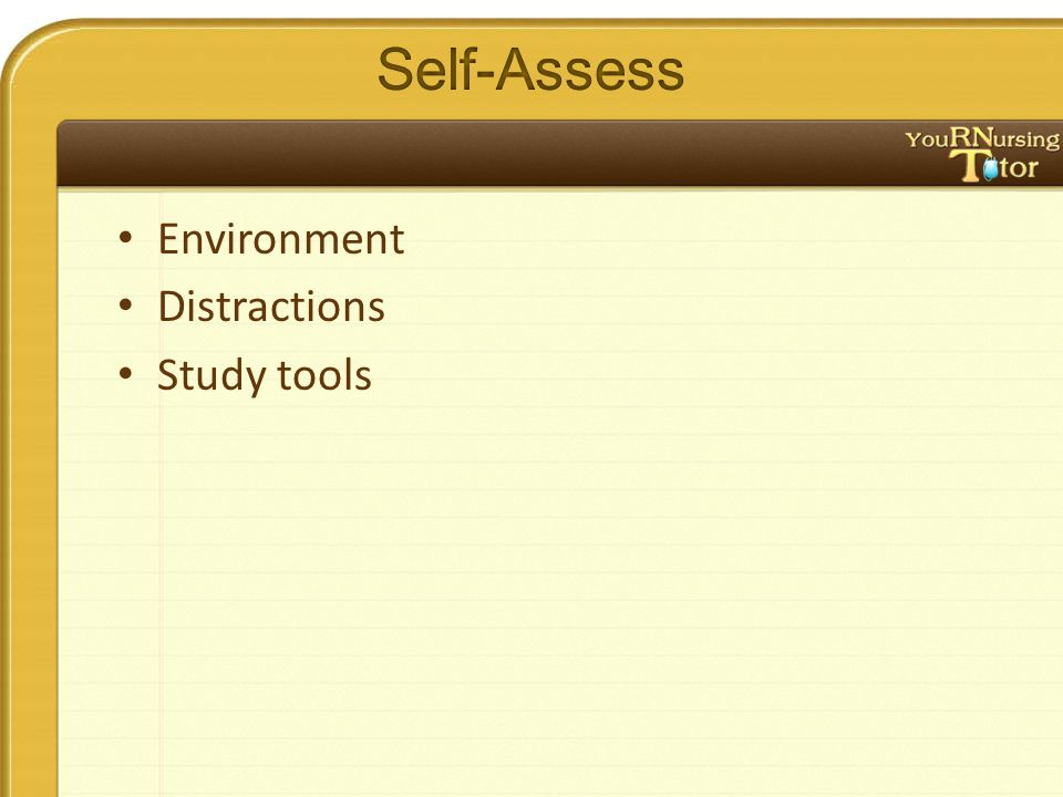 Environment Distractions Study tools