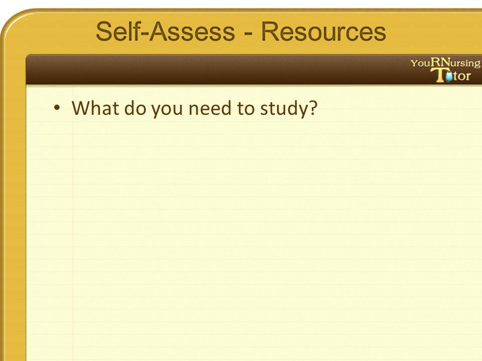 What do you need to study?