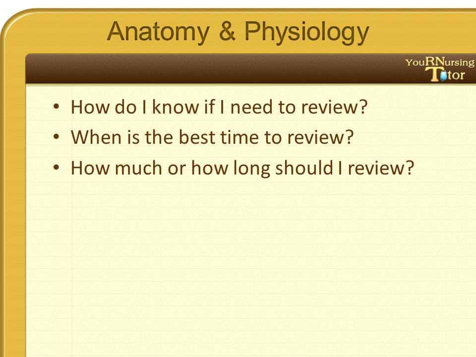 How do I know if I need to review? When is the best time to review? How much or how long should I review?