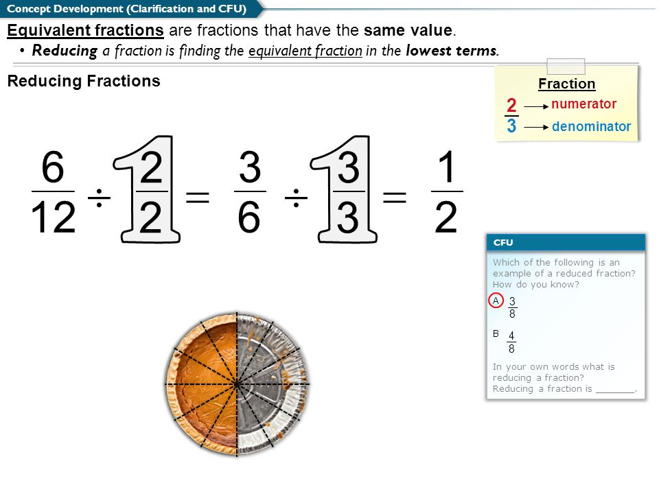 Which of the following is an example of a reduced fraction.